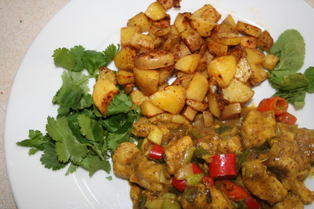 hibiskuscurry und kartoffeln