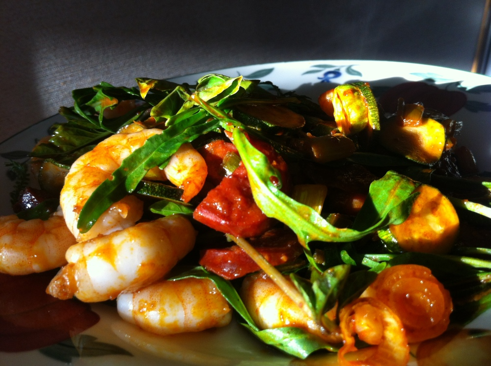 shrimps rucola